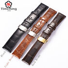 18MM 19MM 20MM 21MM 22mm Genuine Cow Leather Wrist Watch Band Strap