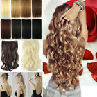 1Pcs Long Curly Wavy Straight Full head clip in on hair extensions 30Colors lh69