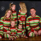 Christmas Family Matching Pajamas Baby Kids Adult Sleepwear Nightwear Xmas Gifts