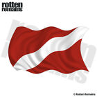 Dive Waving Flag Decal Scuba Diving Diver Rescue Gloss Sticker (LH) HGV