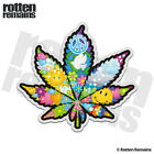 Pot Leaf Psychedelic Peace Decal Weed Marijuana Hippie Gloss Sticker HGV