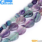 Natural Stone Rainbow Fluorite Oval Beads For Jewelry Making Free Shipping 15""
