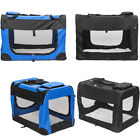 Durable Dog Crate Soft Sided Pet Carrier Foldable Training Kennel Portable Cage