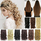 100% Real Thick Clip In Hair Extensions Long Curly 3/4Full Head Hair Extentions