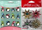 U CHOOSE Jolee's Stickers METALLIC SNOWFLAKES - HOLIDAY PENGUINS CABOCHON Winter