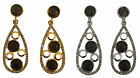 New Bead Circle 1950s Vintage style Atomic drop clip on Fashion Earrings