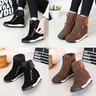 Fashion Women's Casual Warm Sneakers Suede Inner Heel Shoes Comfort Size 2018