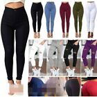 Women High Waist Ripped Knee Skinny Jeans Lady Jeggings Denim Pants Trousers