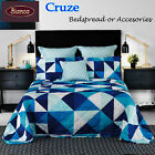 Cruze Triangles Bedspread Set or Accessorie SINGLE King Single DOUBLE QUEEN KING