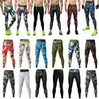 US Camo Mens Skinny Compression Base Layer Pants Tights Workout Jogger Tracksuit