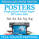 Your PHOTO ON PAPER Satin 225gsm PERSONALISED POSTER Print A4 A3 A2 A1 A0