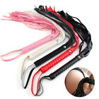 Adult Sex Role Play Faux Leather Handle Whip Flogger Couples Fun Stimulate Toys