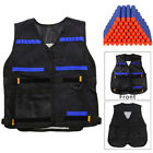 Tactical Vest Jacket +100x Refill Bullets For Nerf Gun N-Strike Elite GameToys A