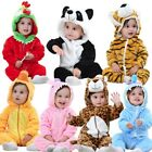 Baby Animals 0-5 Years Outfit Clothes Romper Toddler Jumpsuit Flannel Hooded