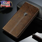 Flip Magnetic Shockproof Wallet Leather Case Rubber Gel Cover For iPhone Samsung
