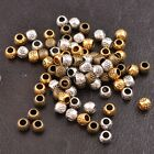 50/100Pcs Antique Tibetan Silver Round Charm Spacer Beads For Jewelry DIY