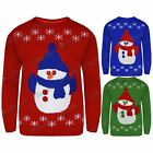 Ladies Womens Xmas Christmas Knitted Jumper Snowman Snowflakes Hat Christmas Top