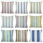 "Striped Velvet Throw Pillow Cover Sofa Bed Decorative Cushion Case 18x18"" Usa"
