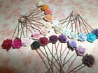 Vintage Rose Hair pins clips,Festival,Bridesmaid,Flower Hair Accessories,Party