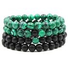 Women Natural Stone Man-made JADE Round Beads Stretch Bracelet For Gift