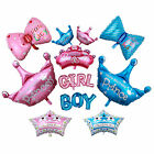 Prince/Princess Crown Baby/Boy/Girl Shape Balloons Foil Balloon Glitter Party