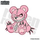 Zombie Teddy Bear Decal Pink Dead Cute Zombies Gloss Sticker (LH) HVG