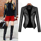 Fashion New Winter Women's Casual Cool PU Leather Jacket Motorcycler Coat S-3XL
