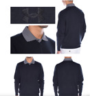 (999) Under Armour Tips V-Neck Sweater Men's Golf Shirt $100-Black