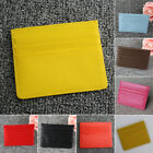 Men's & Women's PU Leather Small ID Credit Card Wallet Holder Slim Pocket Case