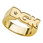 DGK Men's Logo Ring Gold Jewelry Golden Accessories