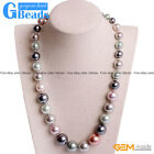 Handmade 10mm Shell Graduated Gemstone Birthstone Princess Necklace Gift 18.5""