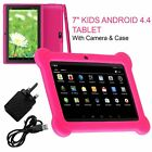 Latest 7  INCH KIDS ANDROID 4.4 TABLET PC QUAD CORE WITH WIFI CAMERA AND GAMES
