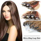 Remy Micro Ring Easy Loop 100% Human Hair Extensions 0.5/1gram 100 Strands
