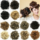Real Natural Curly Messy Bun Hair Piece Scrunchie New Fake Hair Extensions fo5
