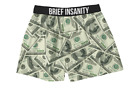 Brief Insanity Men's Boxer Shorts Sublimated Money $100 Bills Boxers NEW