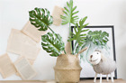 2/4 pcs Monstera Artificial Leaves Home Office Party Flower DIY Decor Green