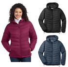 NEW Port Authority Women's Hooded Puffy Jacket Ladies Coat Medium-4XL L313