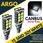 501 Canbus 15 Smd Cree Led White Error Free Sidelights Bulbs W16W T10 W5W Car