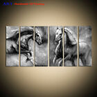 Large Modern Black and white Horse ABSTRACT OIL PAINTING Canvas Wall Art Decor