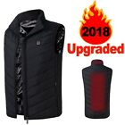 Insulated Heated Vest Men's USB Electric Carbon Fiber 3 Levels Heating Jacket