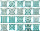 """Turquoise Blue Vintage Throw PILLOW COVER Sofa Couch Bed Cushion Case 18x18"""" USA"""