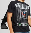 NEW - Disney Star Wars Darth Vader T-Shirt with Cape S, M, L, XL $14.99 USD