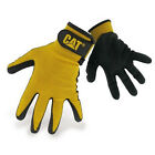 CAT Caterpillar Nitrile Coated Gloves Mens Durable Work