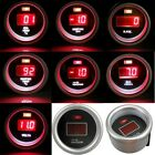 "2"" 52mm Red Digital Oil Press Water Oil Temp Boost Vacuum Tachometer Volts Gauge"