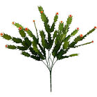 Christmas Cactus ~ MANY COLORS ~ Greenery Centerpieces Silk Flowers Home Office
