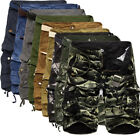 Men's Camouflage Shorts Pants Army Camo Combat Cargo Pockets Short Trousers US