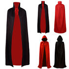 Dress Masquerade Robe Black Cape Hot Velour Red Cloak Costume Hooded Long Adult