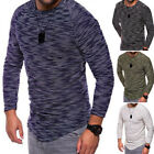 Mens Round Neck Fashion Knit Sweater Pullover Knitwear Jumper Coat Tops Shirt
