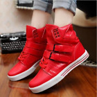 AthleticMens Sneaker High Tips Buckle Lace UP Flats Round Toe Casual board shoes
