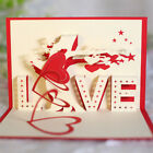 3D Pop Up Postcard Birthday Lovers Valentine's Day Greeting Cards Gift